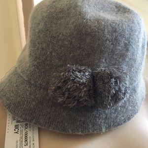 August Hat Company Women's Wool Melton Pom Gray Cl